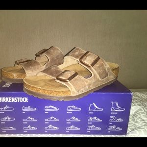 Birkenstock Arizona BS oiled leather tobacco brown